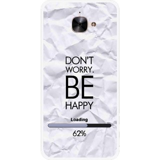 Snooky Printed Be Happy Mobile Back Cover For Letv Le 2 - Grey