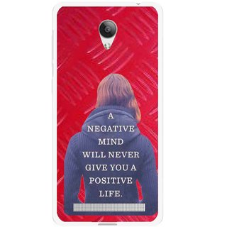 Snooky Printed Be Positive Mobile Back Cover For Vivo Y28 - Red