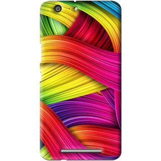 Snooky Printed Color Waves Mobile Back Cover For Gionee Marathon M5 - Multi