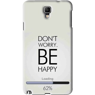Snooky Printed Be Happy Mobile Back Cover For Samsung Galaxy Note 3 neo - Grey