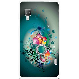 Snooky Printed Sky Flower Mobile Back Cover For Lg Optimus L5II E455 - Multi