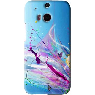 Snooky Printed Blooming Color Mobile Back Cover For HTC One M8 - Multi
