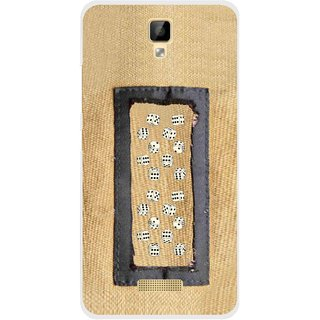 Snooky Printed Dice Mobile Back Cover For Gionee P7 - Brown