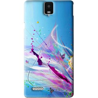 Snooky Printed Blooming Color Mobile Back Cover For Infocus M330 - Multi