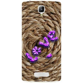 Snooky Printed Love Rove Mobile Back Cover For Oppo Neo 3 R831k - Brown
