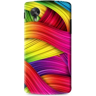 Snooky Printed Color Waves Mobile Back Cover For Lg G5 - Multi