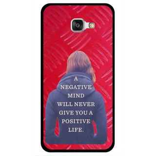Snooky Printed Be Positive Mobile Back Cover For Samsung Galaxy A7 2016 - Red