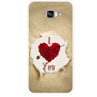 Snooky Printed Love Heart Mobile Back Cover For Samsung Galaxy A7 2016 - Multi