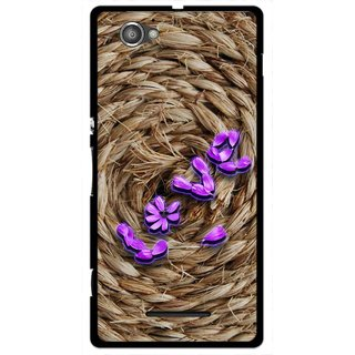Snooky Printed Love Rove Mobile Back Cover For Sony Xperia M - Brown