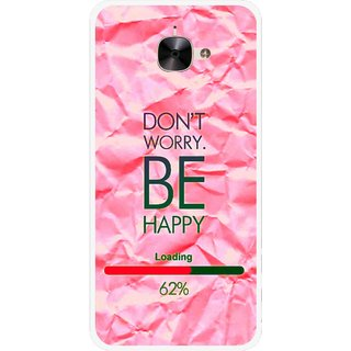 Snooky Printed Be Happy Mobile Back Cover For Letv Le 2 - Pink