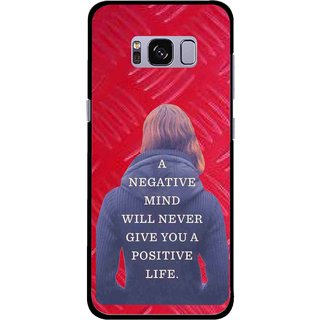 Snooky Printed Be Positive Mobile Back Cover For Samsung Galaxy S8 Plus - Red