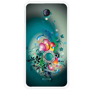Snooky Printed Sky Flower Mobile Back Cover For Micromax Canvas Unite 2 - Multi