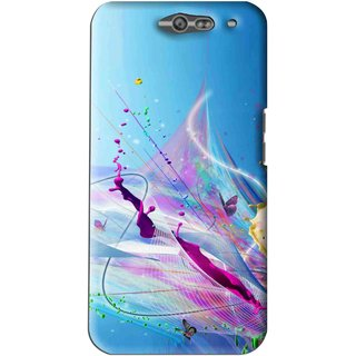 Snooky Printed Blooming Color Mobile Back Cover For Infocus M812 - Multi