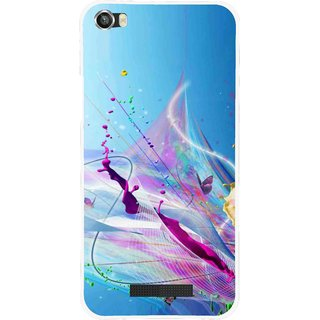 Snooky Printed Blooming Color Mobile Back Cover For Lava Iris X8 - Multi