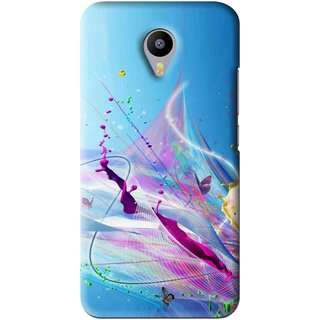 Snooky Printed Blooming Color Mobile Back Cover For Meizu M2 Note - Multi