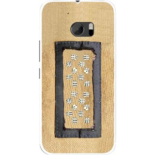 Snooky Printed Dice Mobile Back Cover For HTC One M10 - Brown