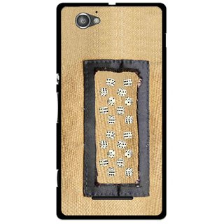 Snooky Printed Dice Mobile Back Cover For Sony Xperia M - Brown