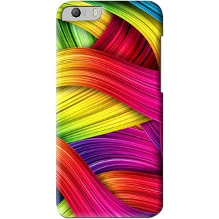 Snooky Printed Color Waves Mobile Back Cover For Micromax Canvas Knight 2 E471 - Multi
