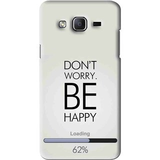 Snooky Printed Be Happy Mobile Back Cover For Samsung Galaxy On5 - Grey