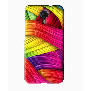 Snooky Printed Color Waves Mobile Back Cover For Micromax Canvas Express 2 E313 - Multi