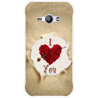 Snooky Printed Love Heart Mobile Back Cover For Samsung Galaxy Ace J1 - Multi