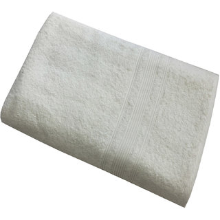 Buy Lushomes Off White Super Soft And Fluffy Bath Towel Size 24 X