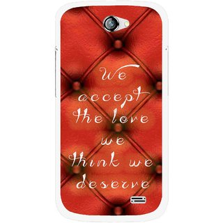 Snooky Printed We Deserve Mobile Back Cover For Gionee Pioneer P2 - Red