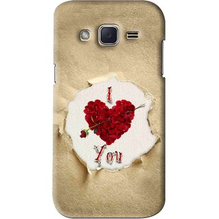Snooky Printed Love Heart Mobile Back Cover For Samsung Galaxy j2 - Multi