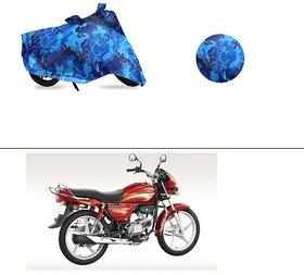 AutoStark Water Resistant Blue Bike Cover Bike Body Cover Military Design For Hero Splendor Plus