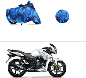AutoStark Water Resistant Blue Bike Cover Bike Body Cover Military Design For TVS Apache RTR 180