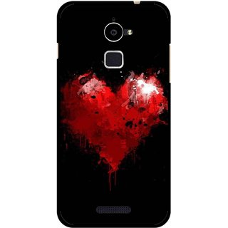 Snooky Printed Crying Heart Mobile Back Cover For Coolpad Note 3 Lite - Black