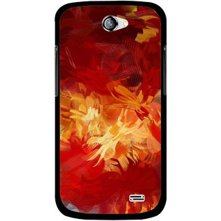 Snooky Printed Flamy Fire Mobile Back Cover For Gionee Pioneer P2 - Red