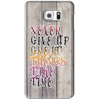 Snooky Printed Never Give Up Mobile Back Cover For Samsung Galaxy Note 6 - Multi