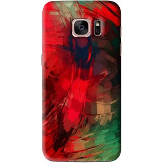 Snooky Printed Modern Art Mobile Back Cover For Samsung Galaxy S7 Edge - Red