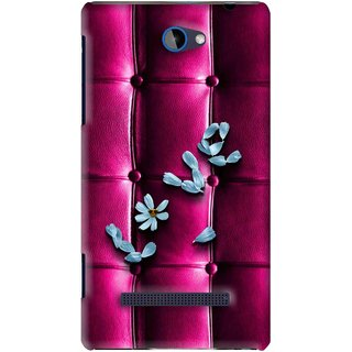 Snooky Printed Love Air Mobile Back Cover For HTC 8S - Purple