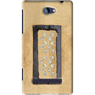 Snooky Printed Dice Mobile Back Cover For HTC 8S - Brown