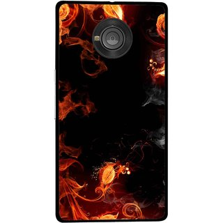Snooky Printed Fire Lamp Mobile Back Cover For Micromax Yu Yuphoria - Orange