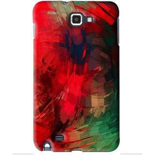 Snooky Printed Modern Art Mobile Back Cover For Samsung Galaxy Note 1 - Red