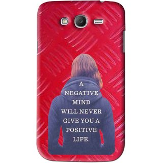 Snooky Printed Be Positive Mobile Back Cover For Samsung Galaxy Grand 2 - Red