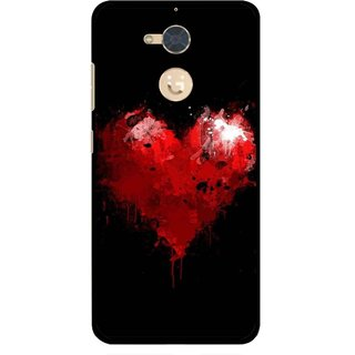 Snooky Printed Crying Heart Mobile Back Cover For Gionee S6 Pro - Black
