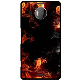 Snooky Printed Fire Lamp Mobile Back Cover For Microsoft Lumia 950 XL - Orange