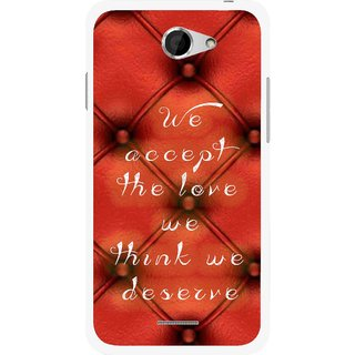 Snooky Printed We Deserve Mobile Back Cover For HTC Desire 516 - Red