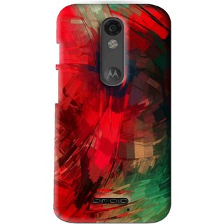 Snooky Printed Modern Art Mobile Back Cover For Moto X Force - Red