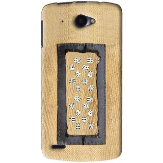 Snooky Printed Dice Mobile Back Cover For Lenovo S920 - Brown