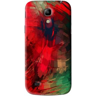 Snooky Printed Modern Art Mobile Back Cover For Samsung Galaxy s4 mini - Red