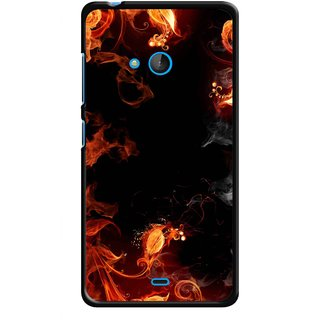 Snooky Printed Fire Lamp Mobile Back Cover For Nokia Lumia 540 - Orange