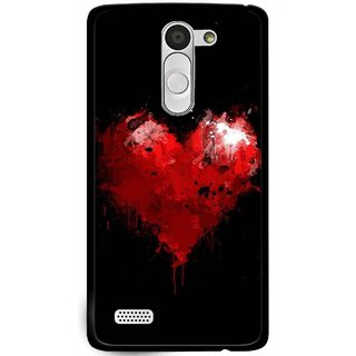 Snooky Printed Crying Heart Mobile Back Cover For Lg L Bello - Black