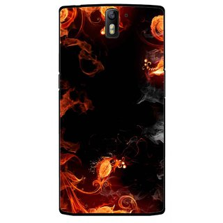 Snooky Printed Fire Lamp Mobile Back Cover For OnePlus One - Orange