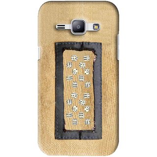Snooky Printed Dice Mobile Back Cover For Samsung Galaxy J1 - Brown