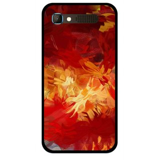 Snooky Printed Flamy Fire Mobile Back Cover For Intex Aqua Y2 Pro - Red